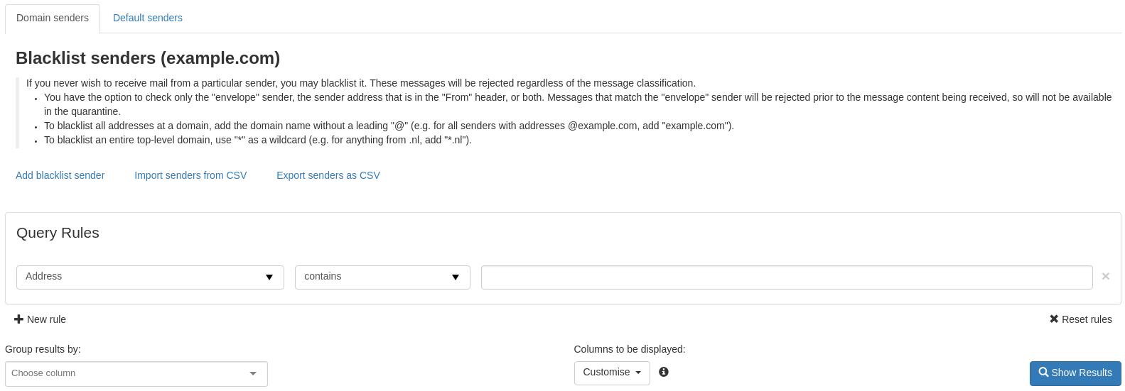 Managing Spam Filter preferences : UniWeb Service Desk