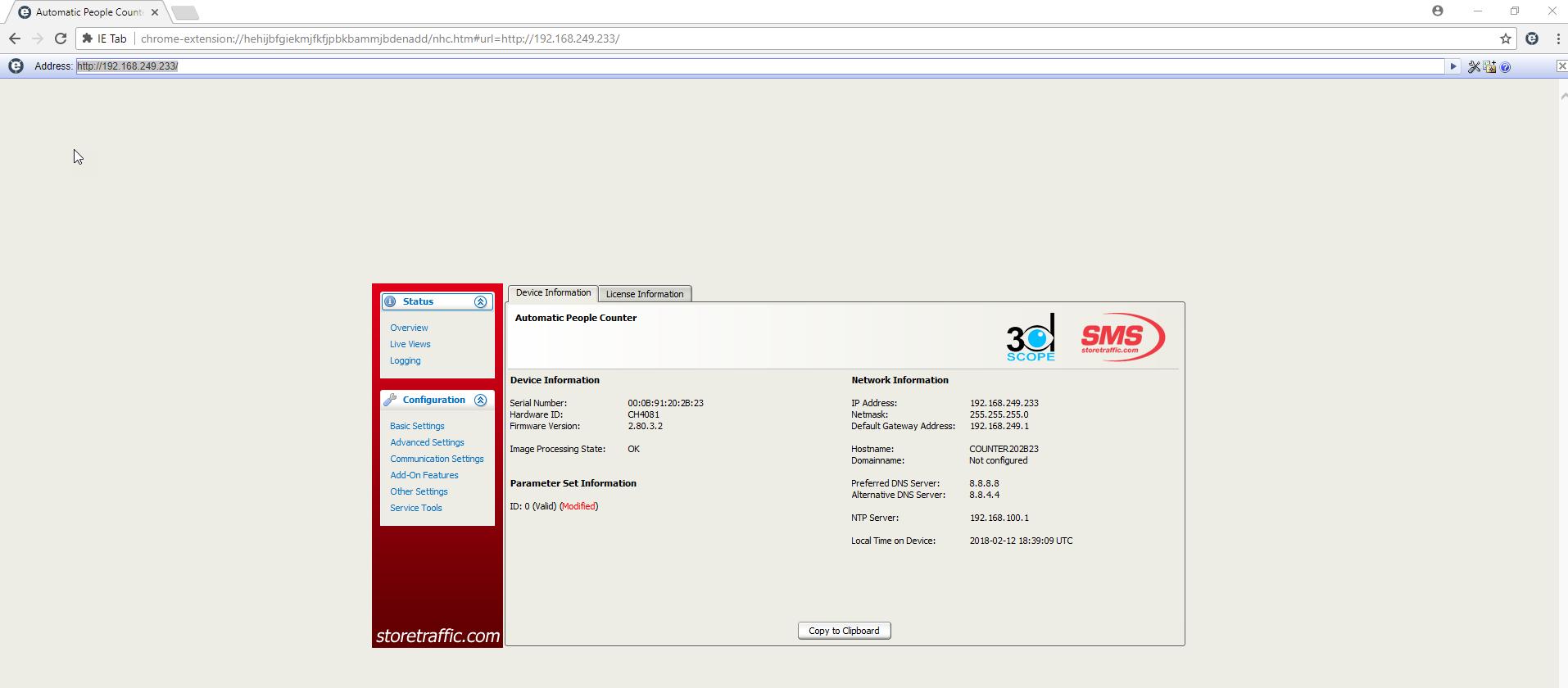 SMS Store Traffic — 3D Scope I - Adding Java/IE to Google Chrome