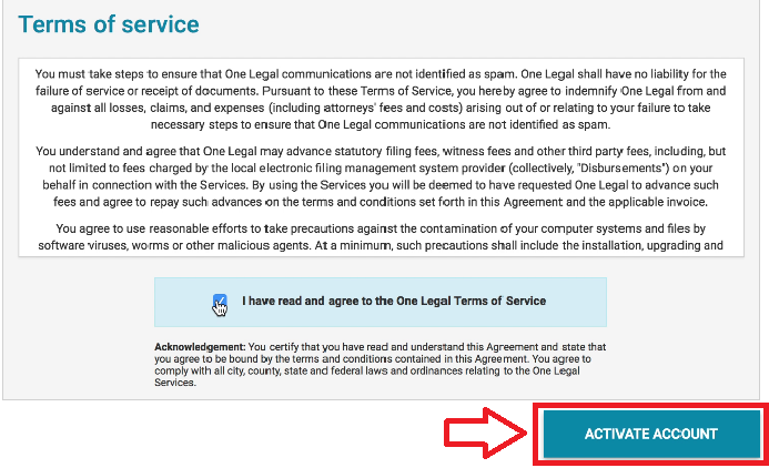 One Legal — How does an invited user complete the registration process?