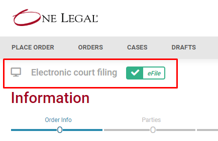 One Legal — Where is court filing available in California?