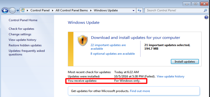Zumasys Win Update Enable Microsoft Update