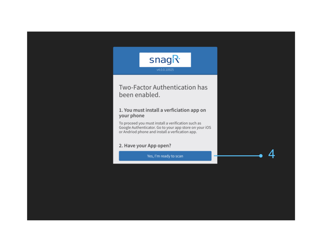 SnagR Ltd — How can users activate Two-Factor Authentication?