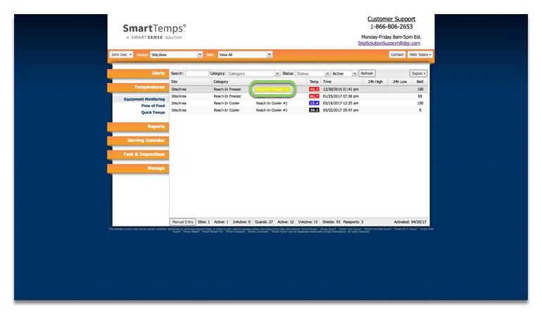Support Smartsense By Digi Digi Smarttemps How To