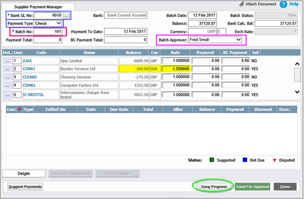 AccountsIQ — How do I Prepare a Supplier's (Vendor's) Batch Payment Run?