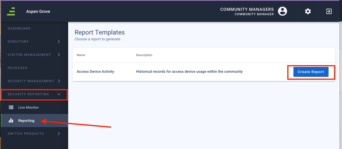 How do I create an access device activity report? - frontsteps