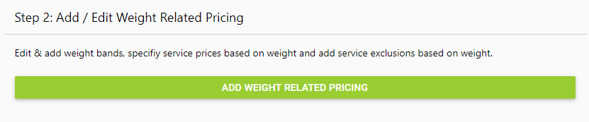 Courier Integration - Weight Related Pricing and Exclusions