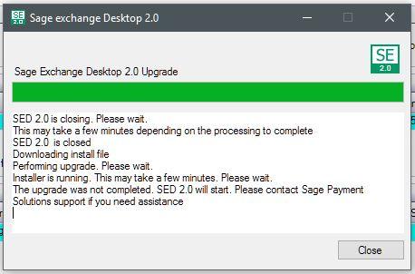 Sage Exchange Desktop Update starting June 19, 2018 - Paya