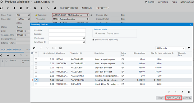 Creating a Sales Order Payment in Acumatica - Paya
