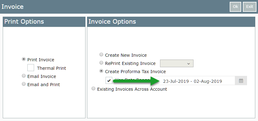 Create a Proforma Tax Invoice — RMS Help Centre
