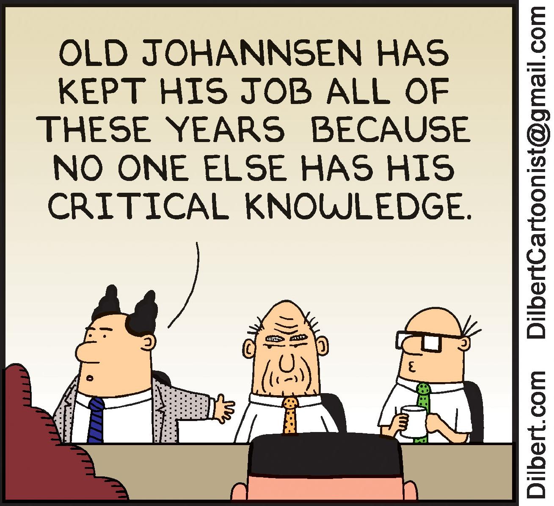 Dilbert cartoon on knowledge transfer Transfer Learning