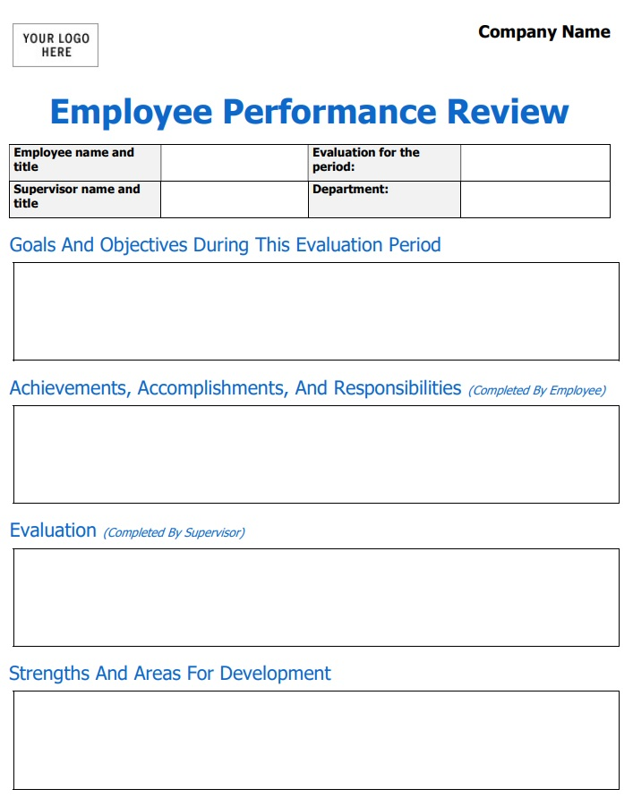 The Perfect Employee Evaluation Form Templates How To