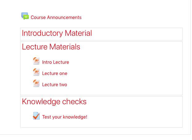 Screenshot showing Flexible sections format