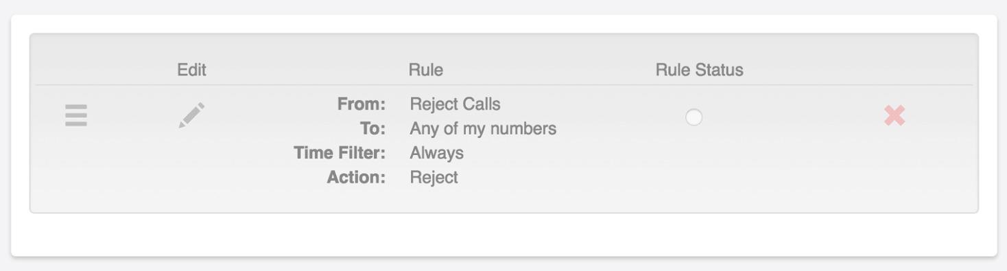 Call Screening Rules
