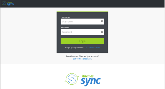 iThemes login page