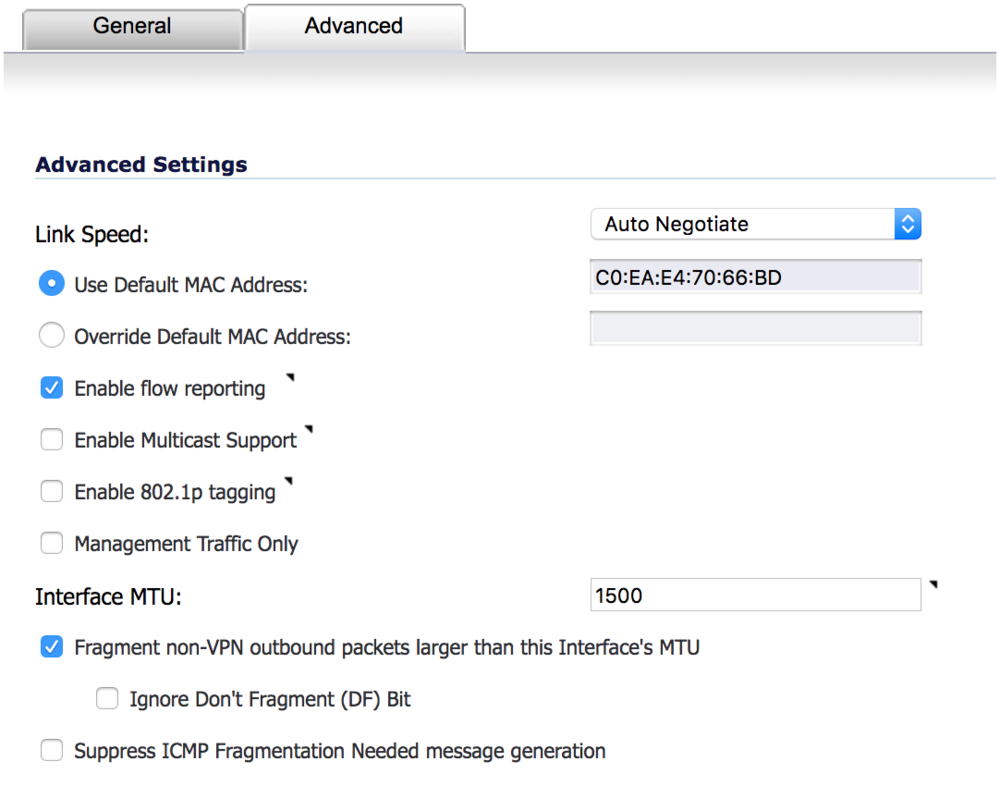 Configuring the MTU Size on the Sonicwall TZ 215 - Pilot