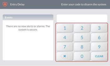 GC3 panel disarm keypad