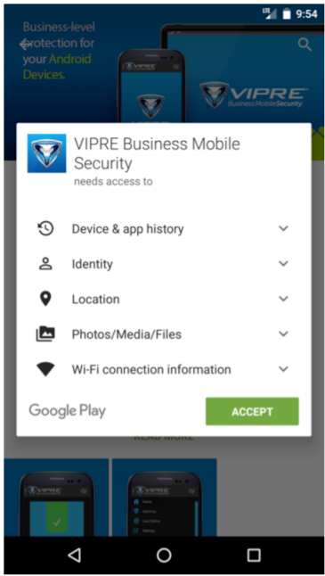 Begin install of app