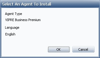 Select type of agent for installer package