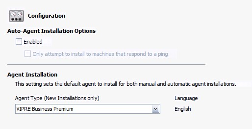 Select default agent type for policy