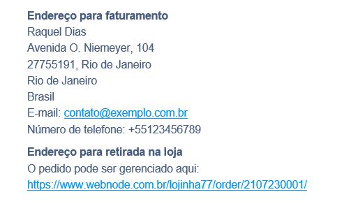 Trabalhando com dados do cliente na loja Webnode