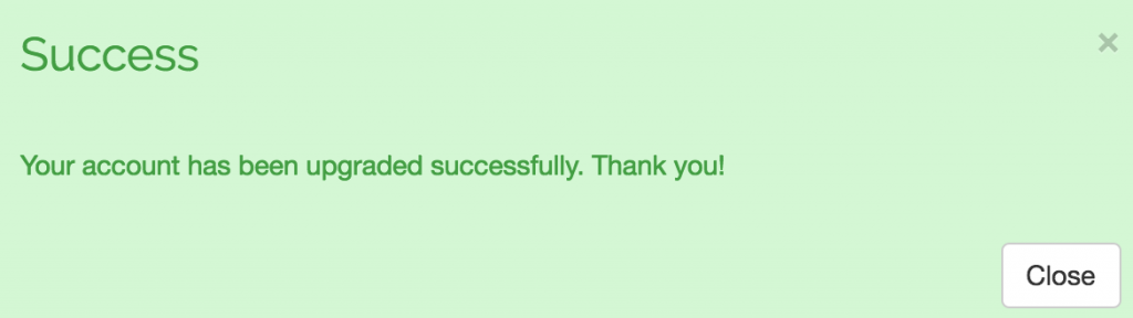 Spinbackup payment successful