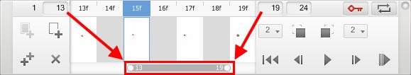 Setting a playback range in Sketchbook Pro
