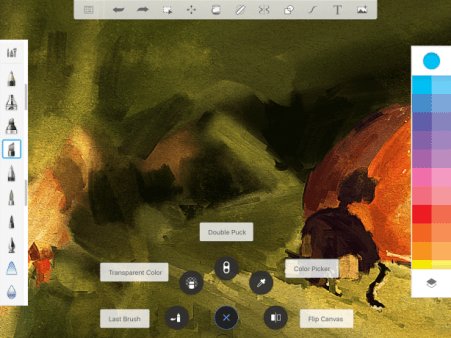 v.4.0 or above iPad canvas and toolbar