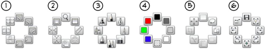 Hotkey shortcuts for marking menus in Sketchbook