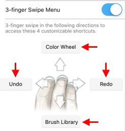 Customizing the 3-finger swipe tools