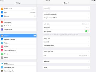 Language settings on iPad