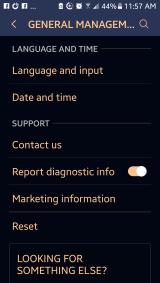 Language & input settings on Android