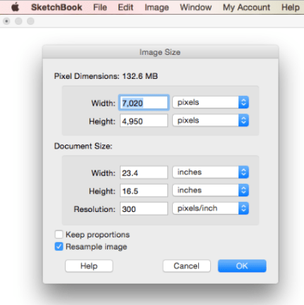 Canvas size - checking it using Image Size