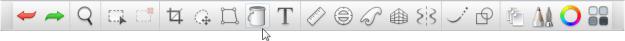 The toolbar in the subscription version of Sketchbook Pro Desktop