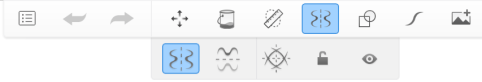 Toolbar showing Symmetry selected