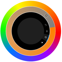 Color options in Sketchbook for Windows 10 using the Microsoft Surface Dial