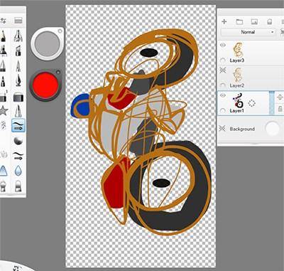 Opening an image in Sketchbook Pro for desktop