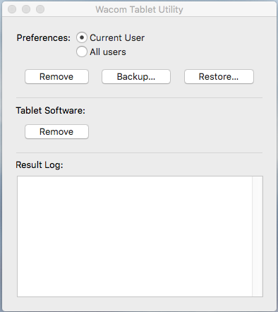 Mac Wacom Tablet Utility