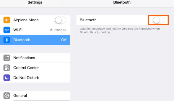 turn Bluetooth OFF
