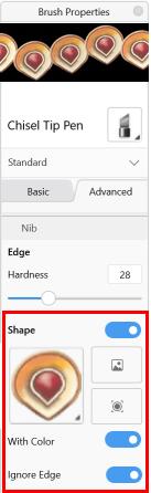 Shape section in Sketchbook Pro Windows 10