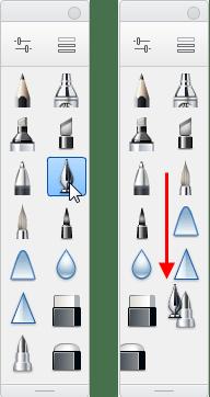 Brush Palette rearranging brushes