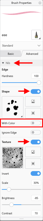Capturing shapes and textures and using With Color in Sketchbook Pro Windows 10