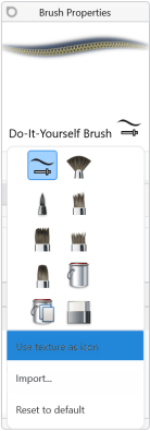 User texture as icon option in Sketchbook for Windows 10