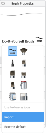 Importing an icon in Sketchbook for Windows 10