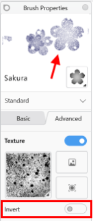 A brush stamp texture in Sketchbook for Windows 10