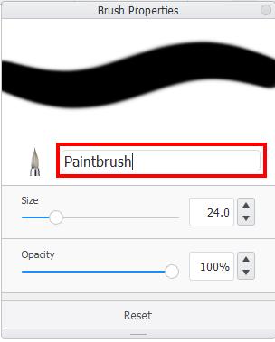 Rename brushes in Sketchbook Pro for desktop