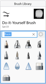 Renaming a brush set in Sketchbook for Windows 10