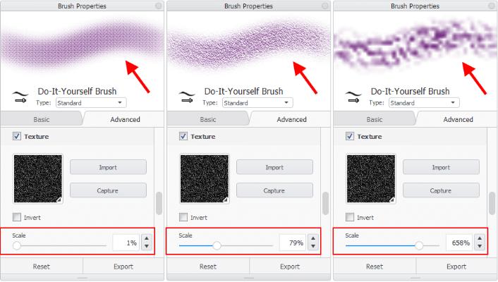 Scale textures in Sketchbook Pro for desktop