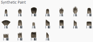 Synthetic brushes