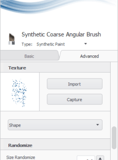 Brush Properties advanced tab