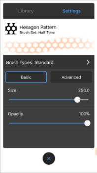 Brush Properties in the 64-bit iPhone version of Sketchbook